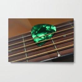 Emerald Pick Metal Print