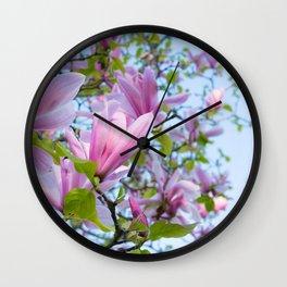 Magnolia trees in bloom  Wall Clock
