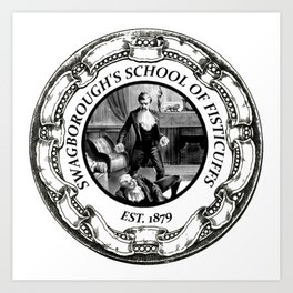 Swagborough's School of Fisticuffs Art Print