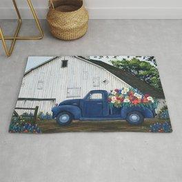 Flower Farm Truck Rug