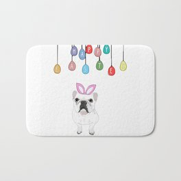 Happy Easter - Frenchie Bunny Bath Mat