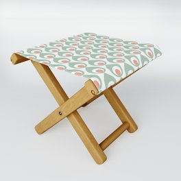 Retro Avocado Muted Folding Stool