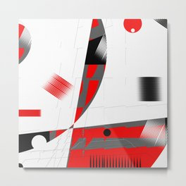 black and white meets red Version 15 Metal Print