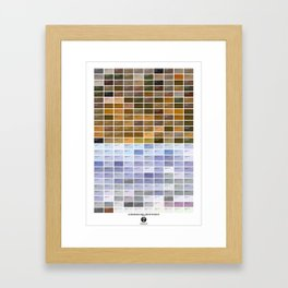 PANTONE glossary - Iceland - Landmannalaugar-Hrafntinnusker Framed Art Print