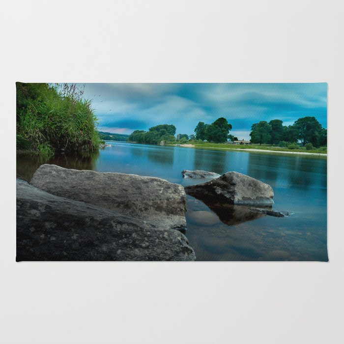 River Landscape Photography - The Banks of the Tay, Scotland Rug