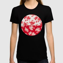 small bouquets in bright red with border T-shirt