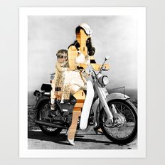 CardinalsRoller Collage Art Print