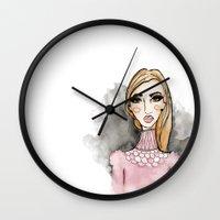 daria Wall Clocks featuring Daria by Jessica Twilbeck