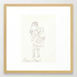 Love Me!! Framed Art Print