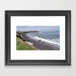 Okato beach Framed Art Print