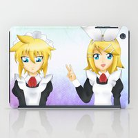 vocaloid iPad Cases featuring Kagamine Twins by Amber Steel