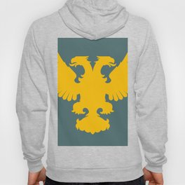 yellow double-headed eagle on a gray-blue background Hoody