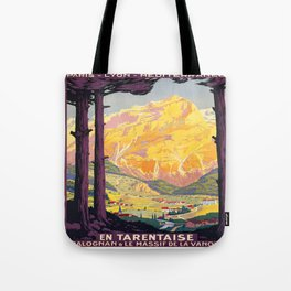 Vintage poster - En Tarentaise, France Tote Bag