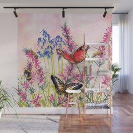 Wild meadow butterflies Wall Mural