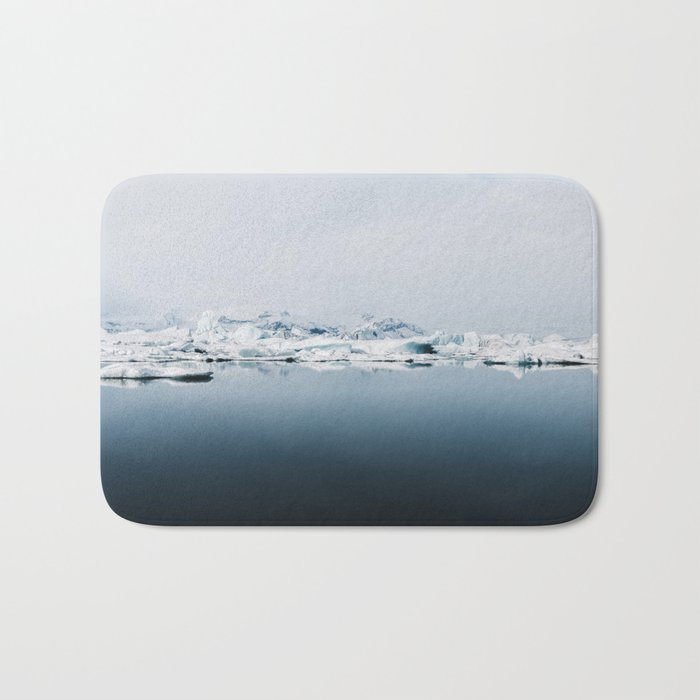 Ethereal Glacier Lagoon in Iceland - Landscape Photography Bath Mat
