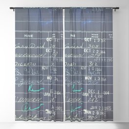 Library Card 23322 Negative Sheer Curtain