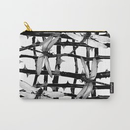 BLACK & WHITE DRAGONFLIES ON WHITE COLOR Carry-All Pouch