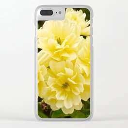 Yellow Flowering Tree Clear iPhone Case
