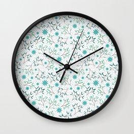 Under the Mistletoe Pattern Wall Clock