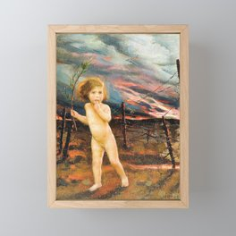 William Logsdail - An allegory of war, Peace lost in no man's land - Digital Remastered Edition Framed Mini Art Print