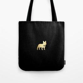 French Bulldog Gold Tote Bag