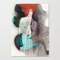 fashion illustration Canvas Prints featuring FASHION ILLUSTRATION 11 by Justyna Kucharska