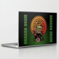 drum Laptop & iPad Skins featuring Dragon drum by kuuma
