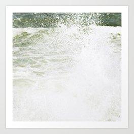 Playful wave Art Print