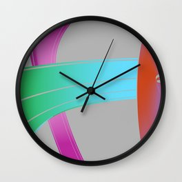 by the rubber band Wall Clock