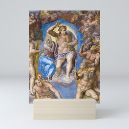 The Last Judgment, Jesus's Second Coming by Michelangelo Mini Art Print