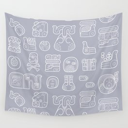 Picto-glyphs Story Wall Tapestry