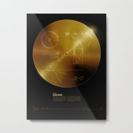 Voyager Golden Record Metal Print