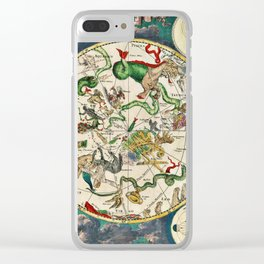 De Wit's Southern Celestial Hemisphere 1670 Clear iPhone Case