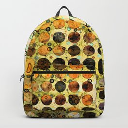 MELANGE OF YELLOW OCKER and BROWN Backpack