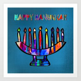 Happy Hanukkah! Art Print