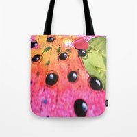 hot pink Tote Bags featuring hot pink by Mojca G. Vesel