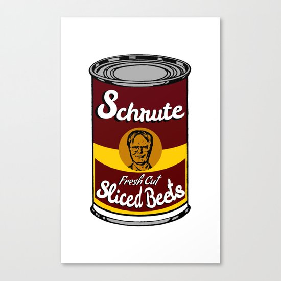 Schrute Fresh Cut Sliced Beets  |  Dwight Schrute  |  The Office Canvas Print