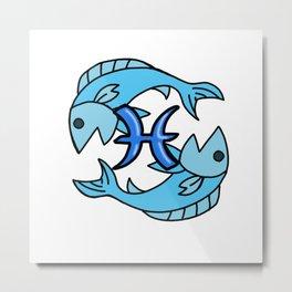 Pisces - Astrology Sign Metal Print