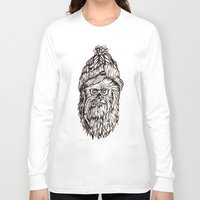 chewbacca Long Sleeve T-shirts featuring Hipster Chewbacca  by LaurenNoakes