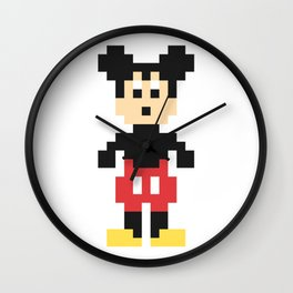Mickey Mouse Pixel Character Wall Clock