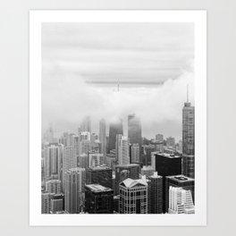 Black and White Chicago Illinois Art Print