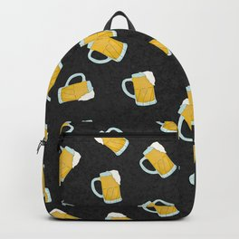 Artsy Modern Yellow Black Watercolor Beer Steins Backpack