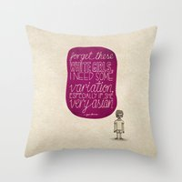 childish gambino Throw Pillows featuring Childish Gambino; What Rappers Say Series 4/8 by Jaron Lionel