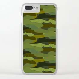 Khaki camouflage Clear iPhone Case