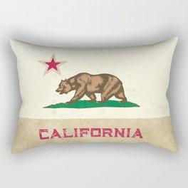 Vintage California Flag Rectangular Pillow