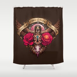 There Are Other Worlds Than These Shower Curtain