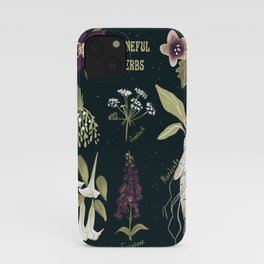 Baneful Herbs- Botany for witches iPhone Case