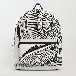Paper Birch – Black Tree Rings Backpack
