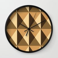 copper Wall Clocks featuring Copper by Fernanda Fattu