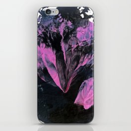 Thunderstorm [2]: a vibrant, abstract acrylic piece in purple, blue, magenta, and white iPhone Skin